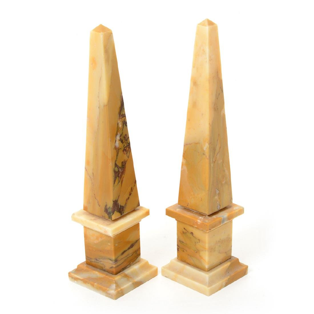 Ten Decorative Obelisks Made of Marble and Other Media - 2