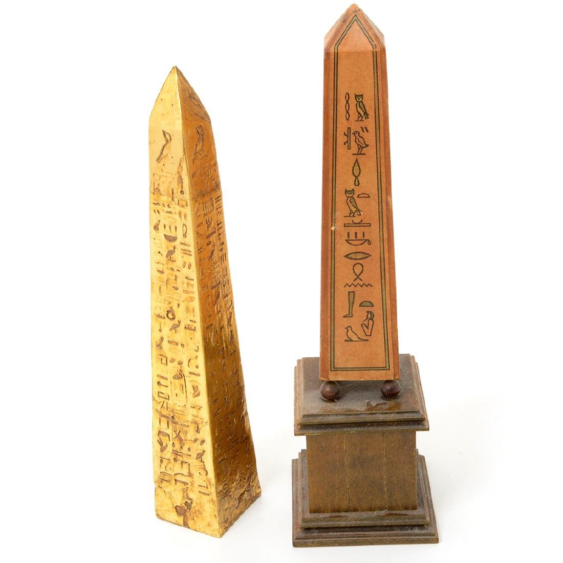 Ten Decorative Obelisks Made of Marble and Other Media - 5