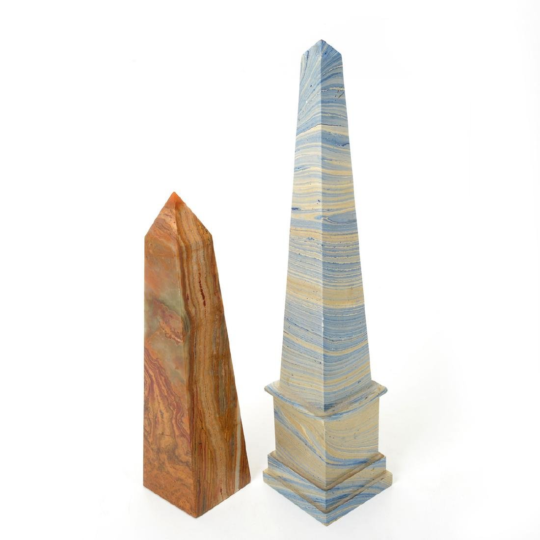 Ten Decorative Obelisks Made of Marble and Other Media - 6