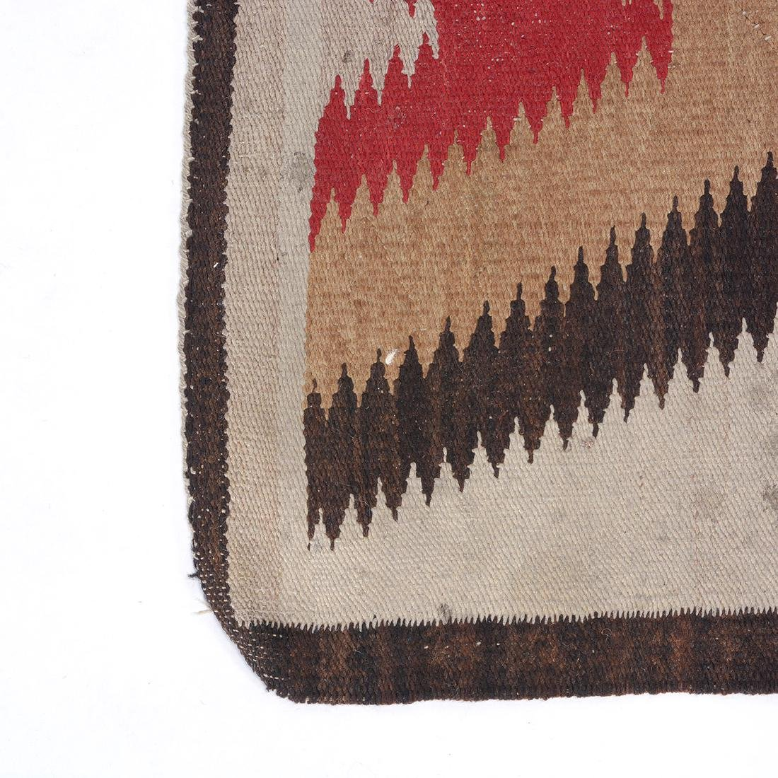 Navajo Dazzler Rug with ZigZag Design - 2