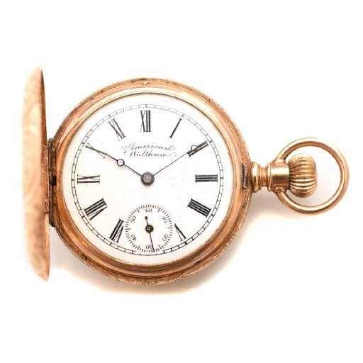 b8bd2c890507e American Waltham 14k Yellow Gold Pocket Watch.