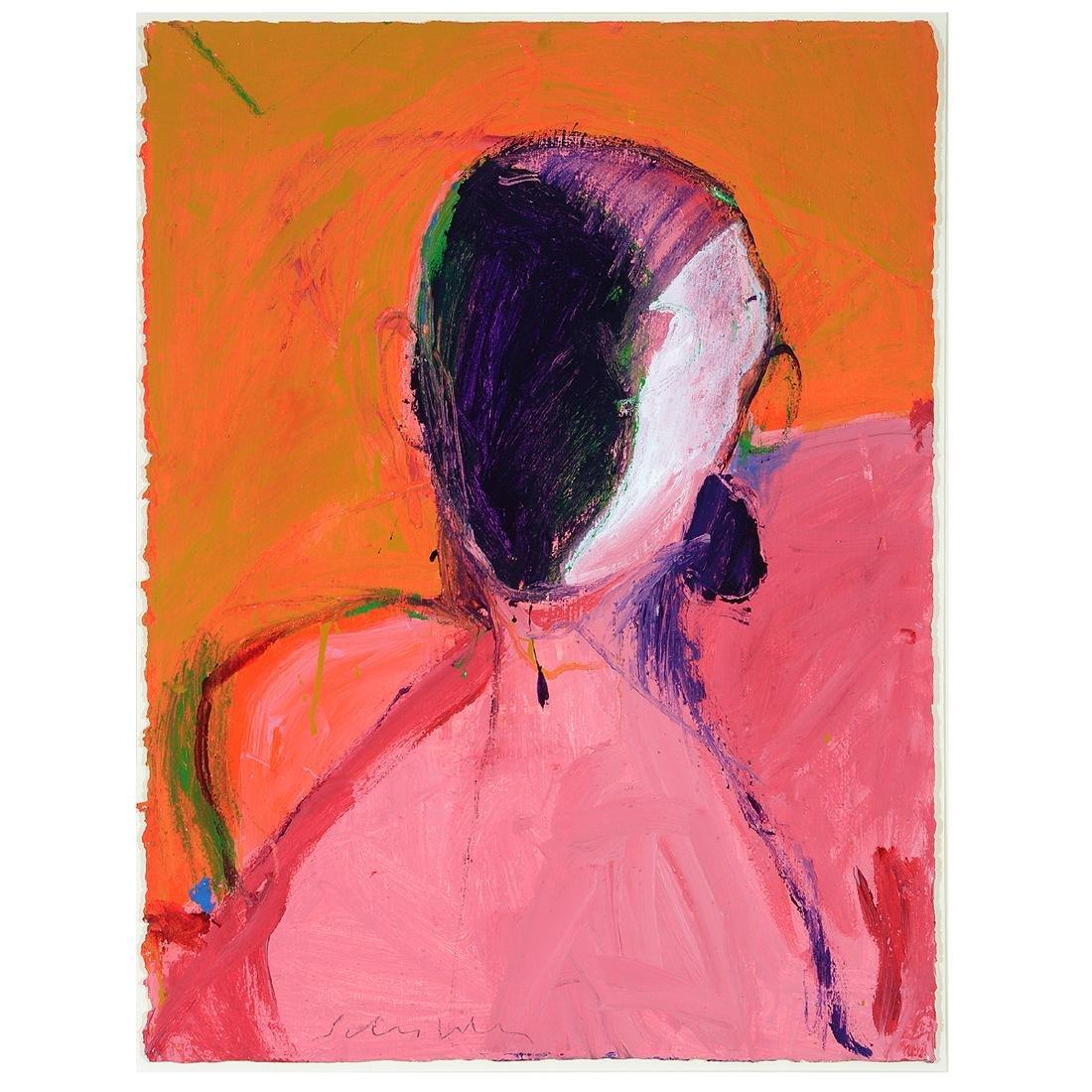 "Fritz Scholder ""Entity #5, 1986"" acrylic on paper"