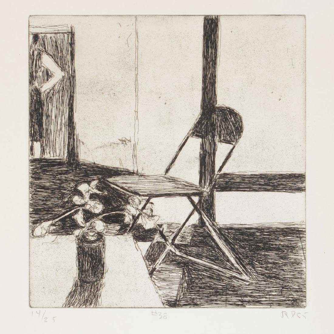 "Richard Diebenkorn ""#38 from 41 Drypoints 1965"" etching"