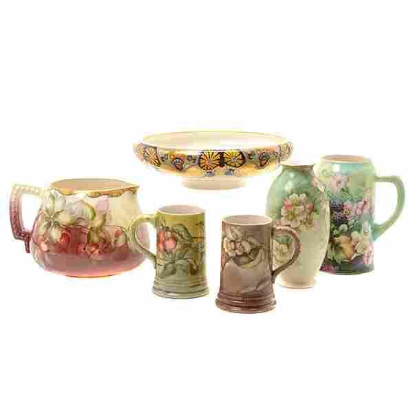 American Belleek Art Nouveau Hand Painted Porcelain