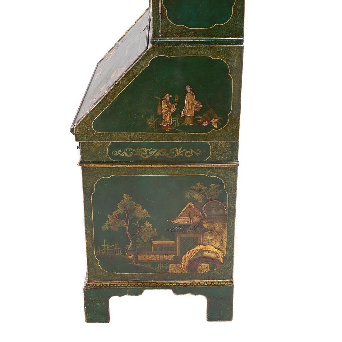 Continental Baroque Green Japanned and Paint Decorated - 6