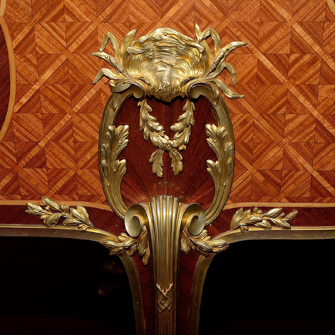 Fine Louis XVI Style Gilt Bronze Mounted and Paint - 10