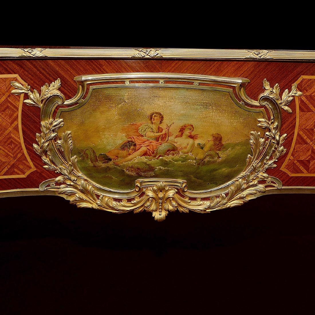 Fine Louis XVI Style Gilt Bronze Mounted and Paint - 4