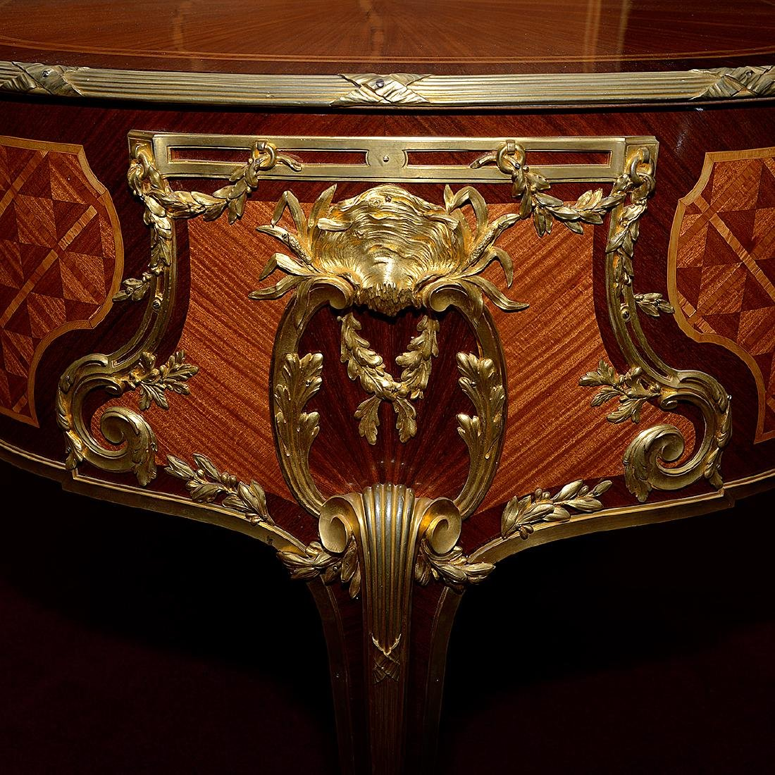 Fine Louis XVI Style Gilt Bronze Mounted and Paint - 5