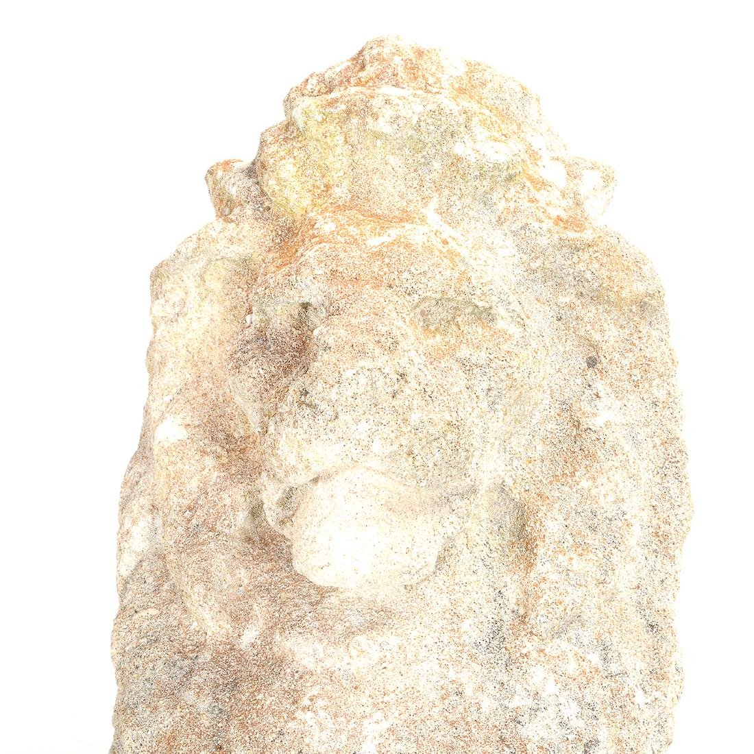 Pr English Baroque Style Stone Lions Guardant, after - 2