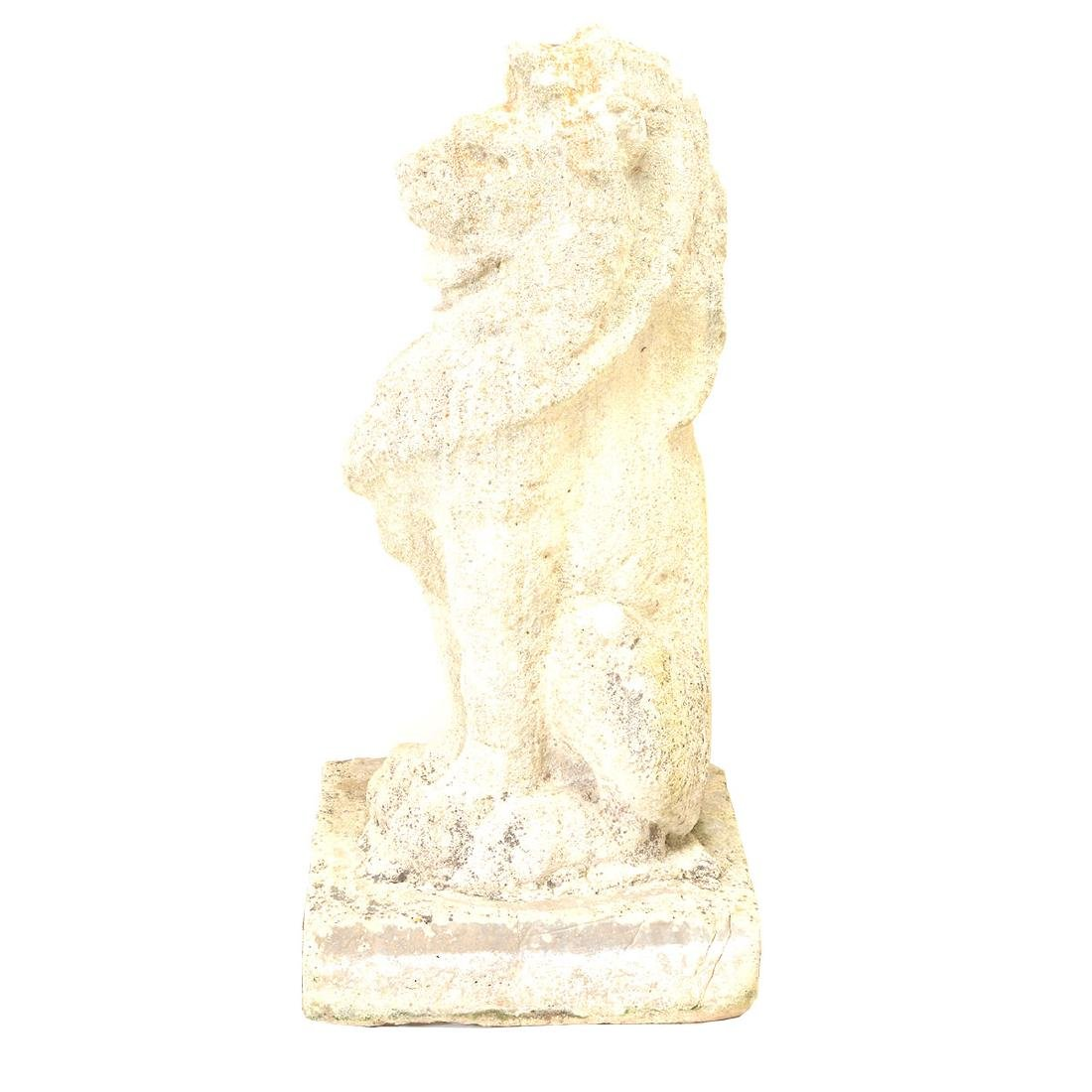 Pr English Baroque Style Stone Lions Guardant, after - 4