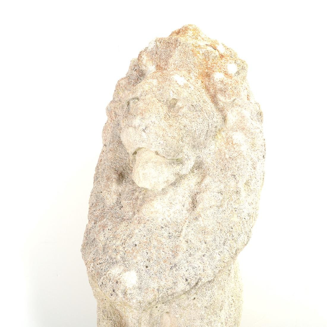 Pr English Baroque Style Stone Lions Guardant, after - 5
