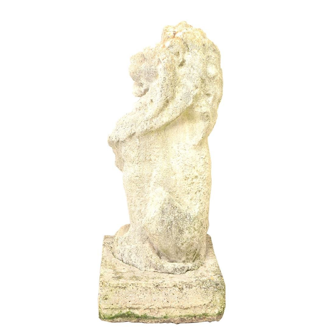 Pr English Baroque Style Stone Lions Guardant, after - 6