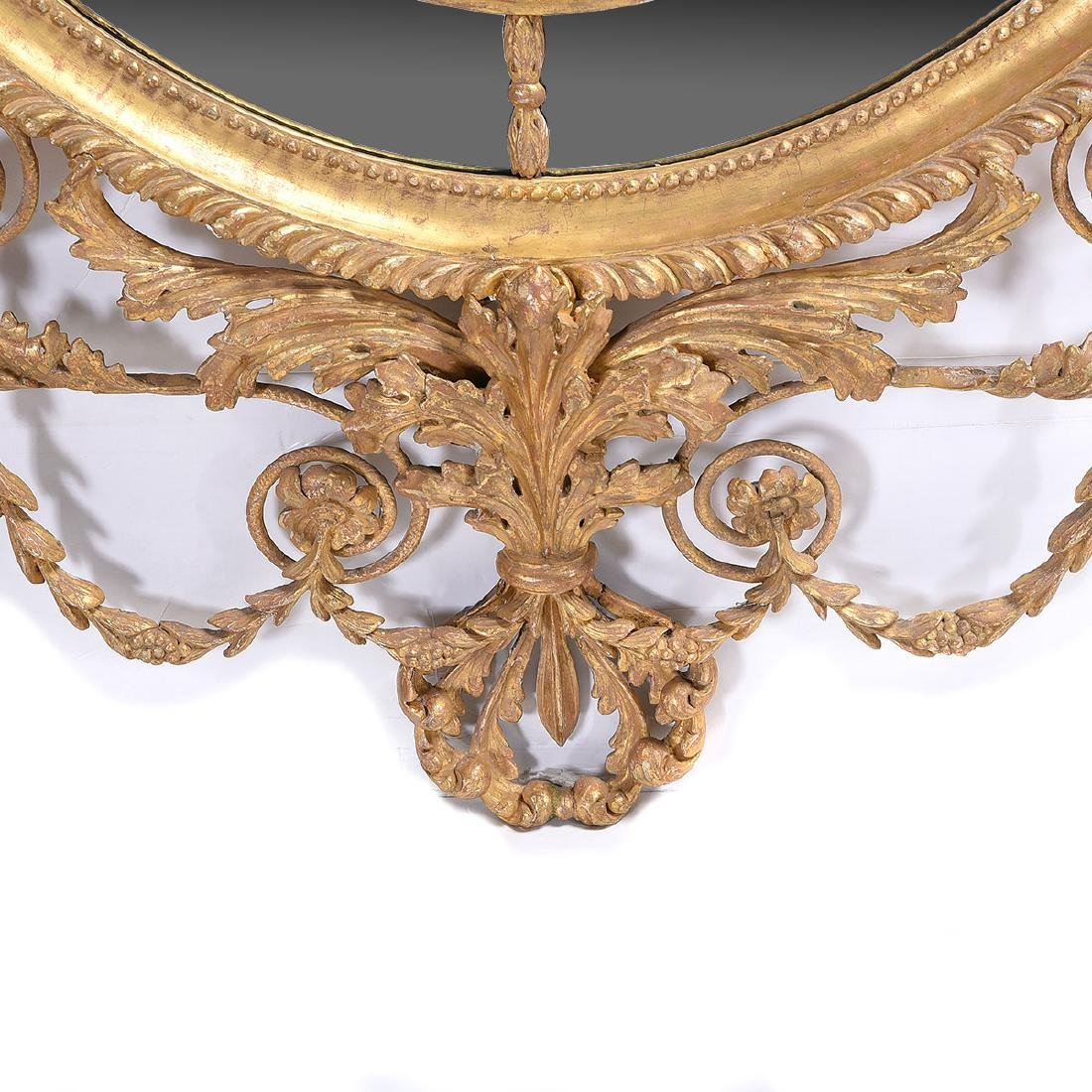 Exceptional Pair of George III Oval Mirrors in the - 3
