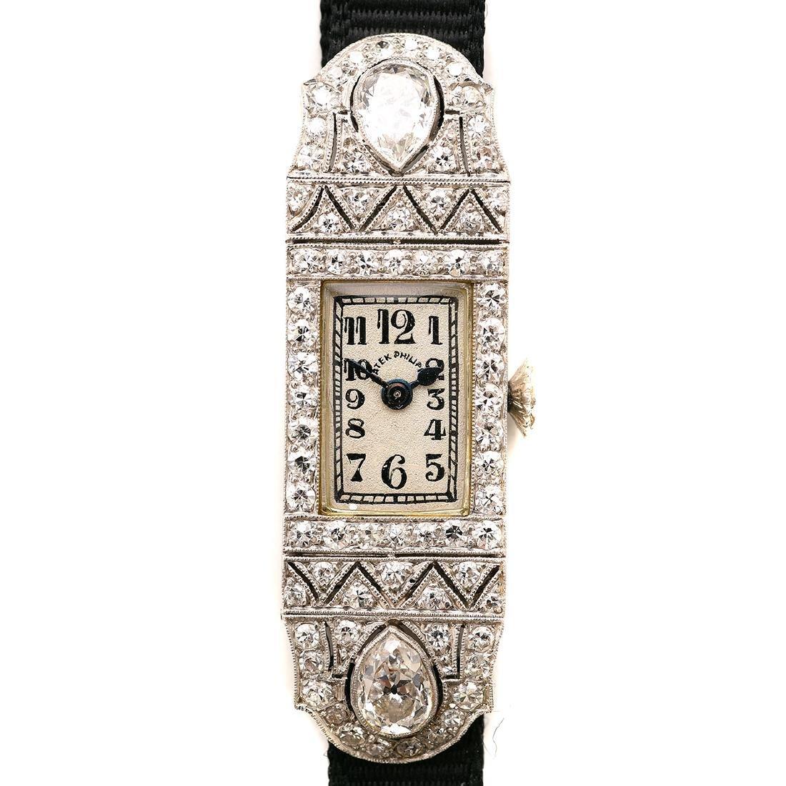 Ladies Art Deco Patek Philippe Diamond, Platinum