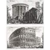 """After Giovanni Piranesi 2 """"Architectural Scenes"""""""
