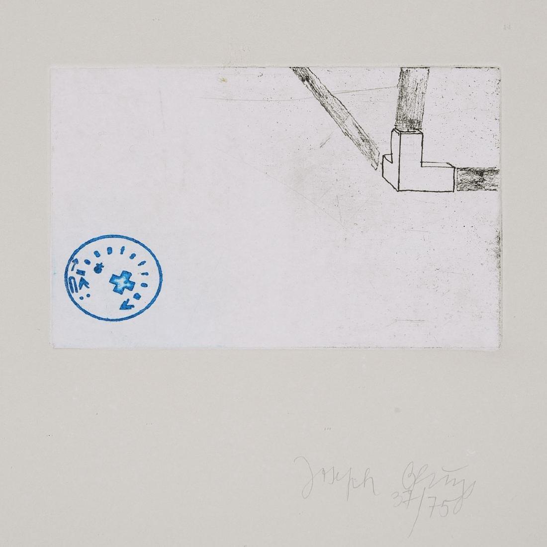 "Joseph Beuys ""Raumecke Filz und Fett"" color etching"