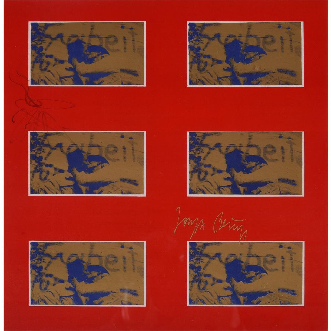 "Joseph Beuys ""Untitled: Berlin Wall Embrace"" mixed"
