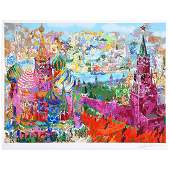 Leroy Neiman Red Square Panorama serigraph
