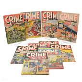Group of 10 Golden Age Crime Does Not Pay Comic Books