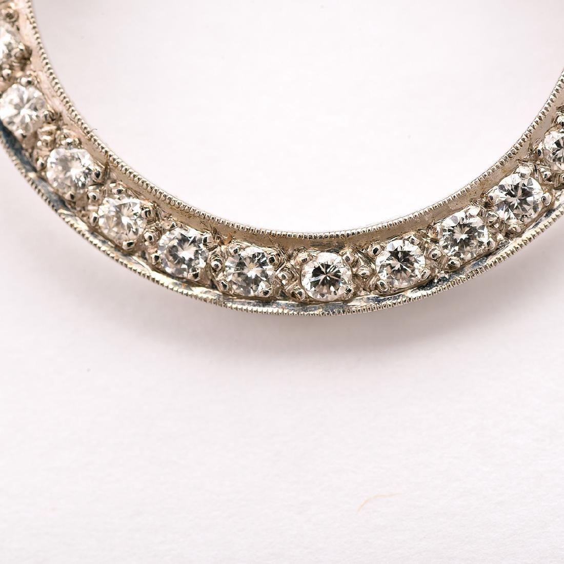 Diamond, 14k White Gold Pin - 2