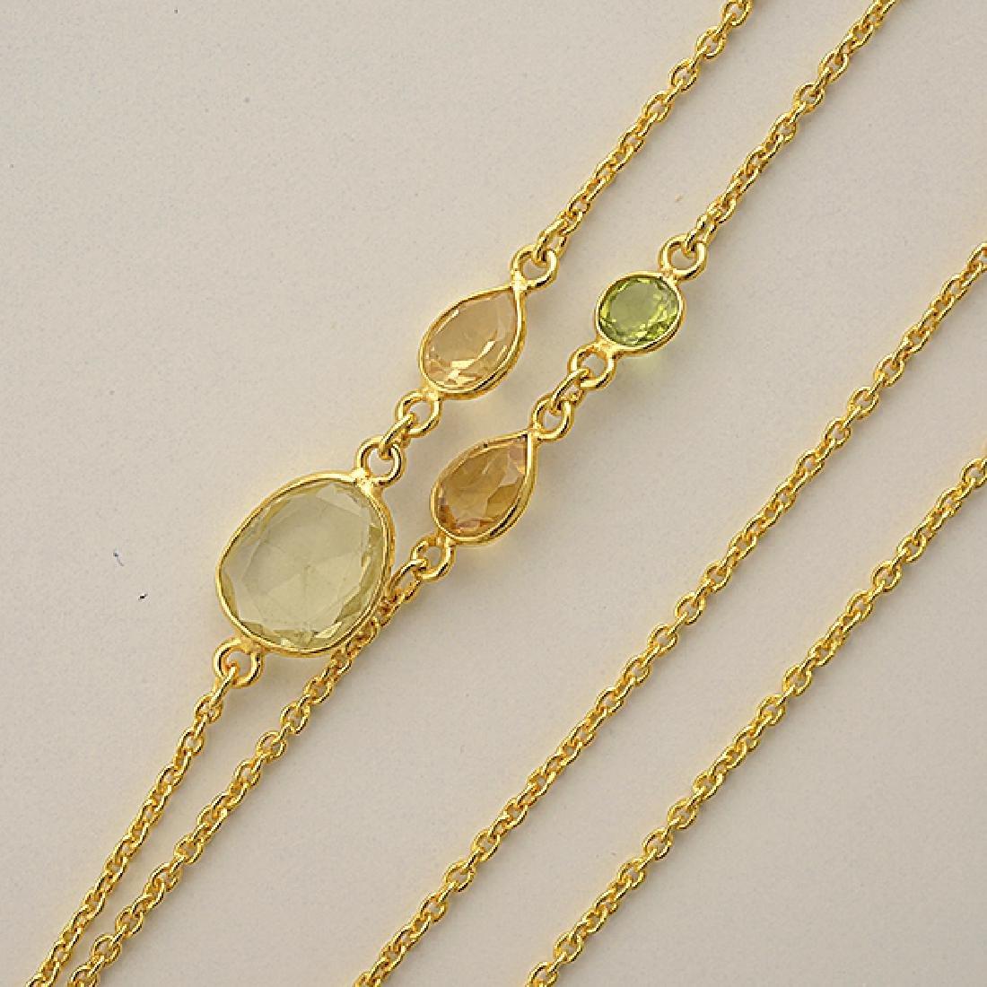 Quartz, Vermeil Necklace. - 2