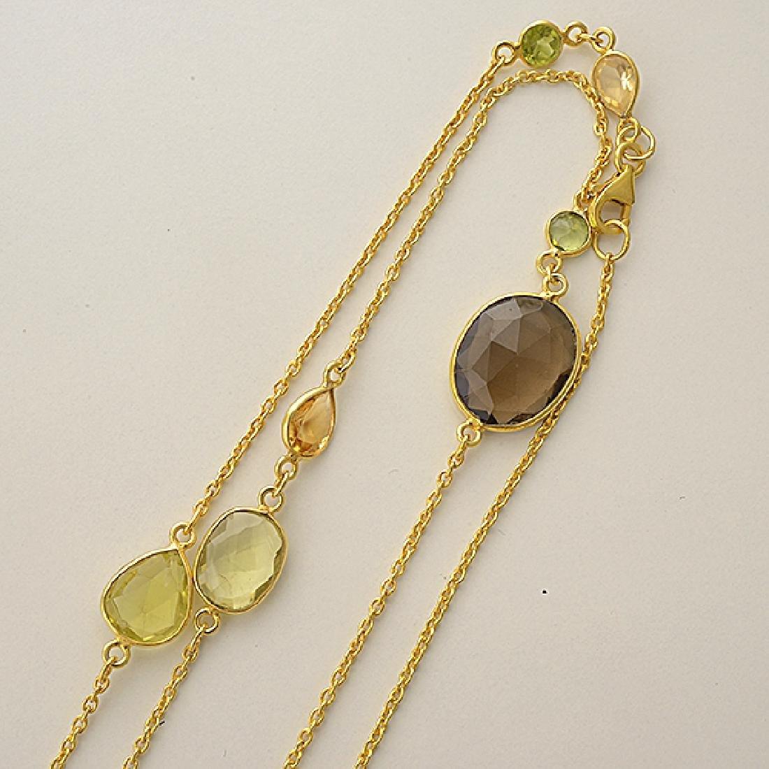 Quartz, Vermeil Necklace. - 3