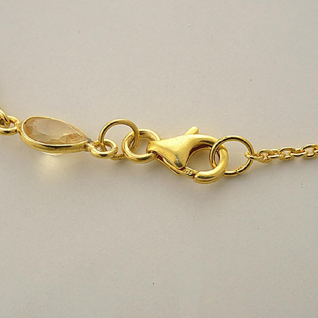 Quartz, Vermeil Necklace. - 4