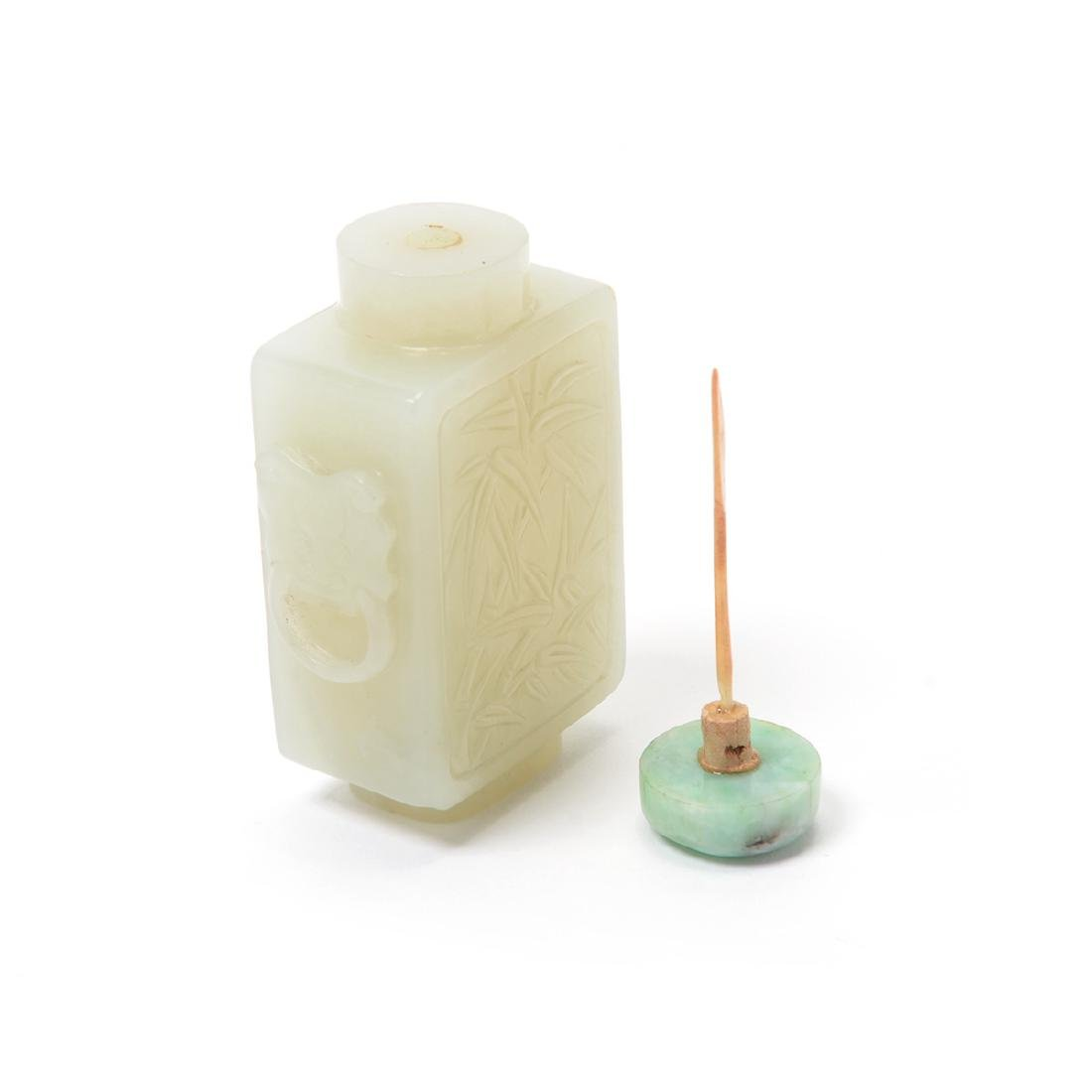 White Jade Snuff Bottle, 18th/19th Century - 3