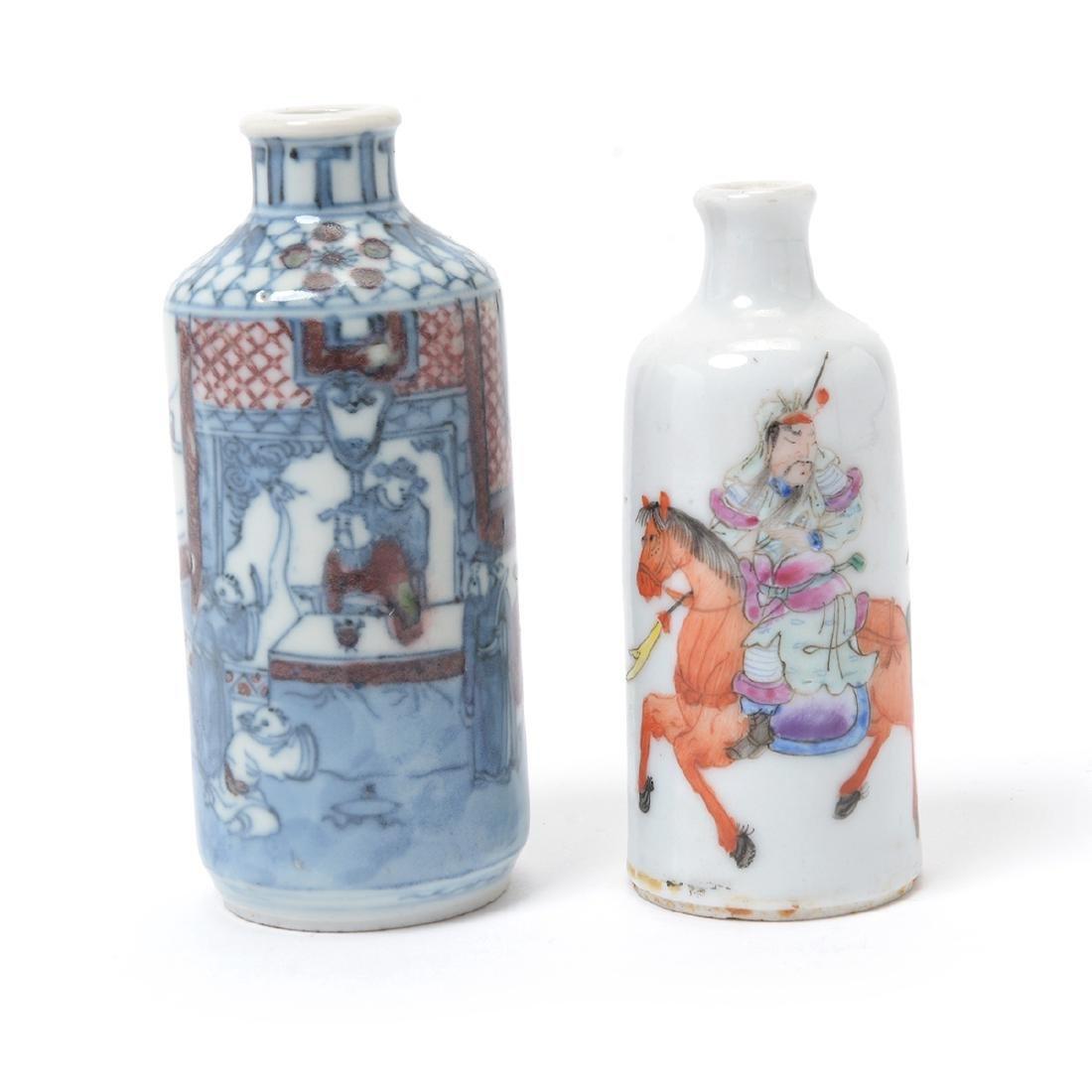 Two Porcelain Figural Snuff Bottles