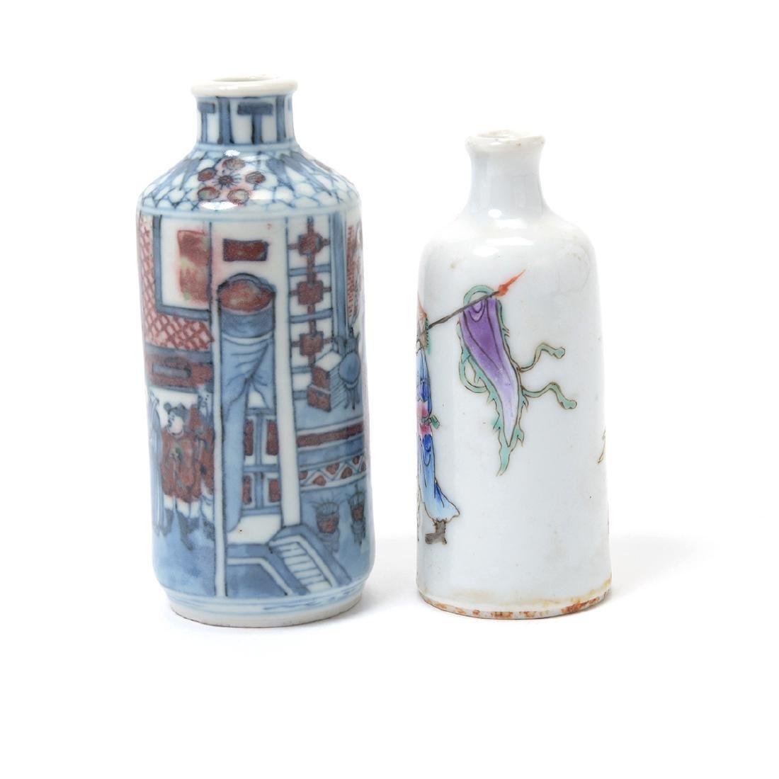 Two Porcelain Figural Snuff Bottles - 3