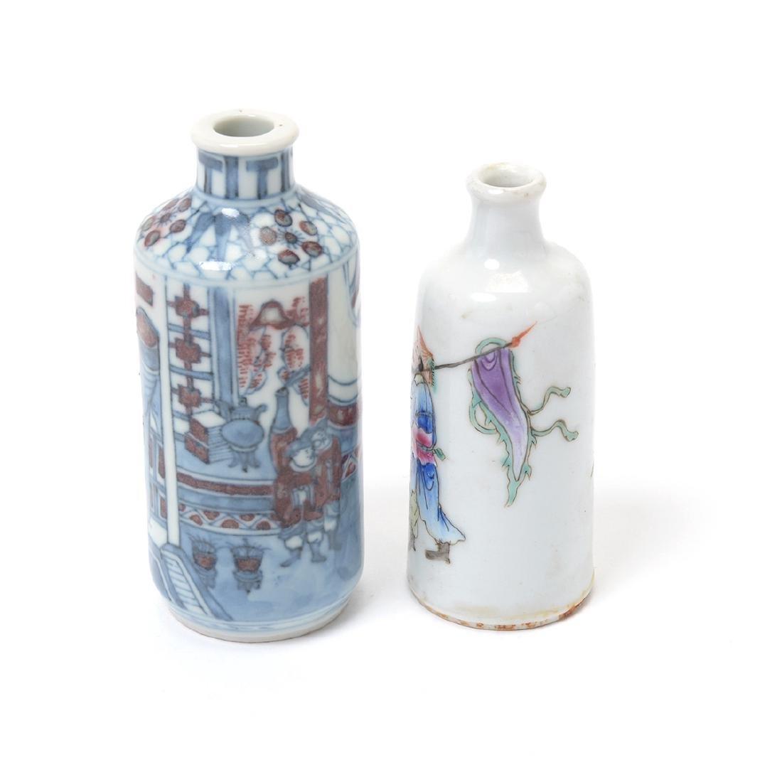 Two Porcelain Figural Snuff Bottles - 4