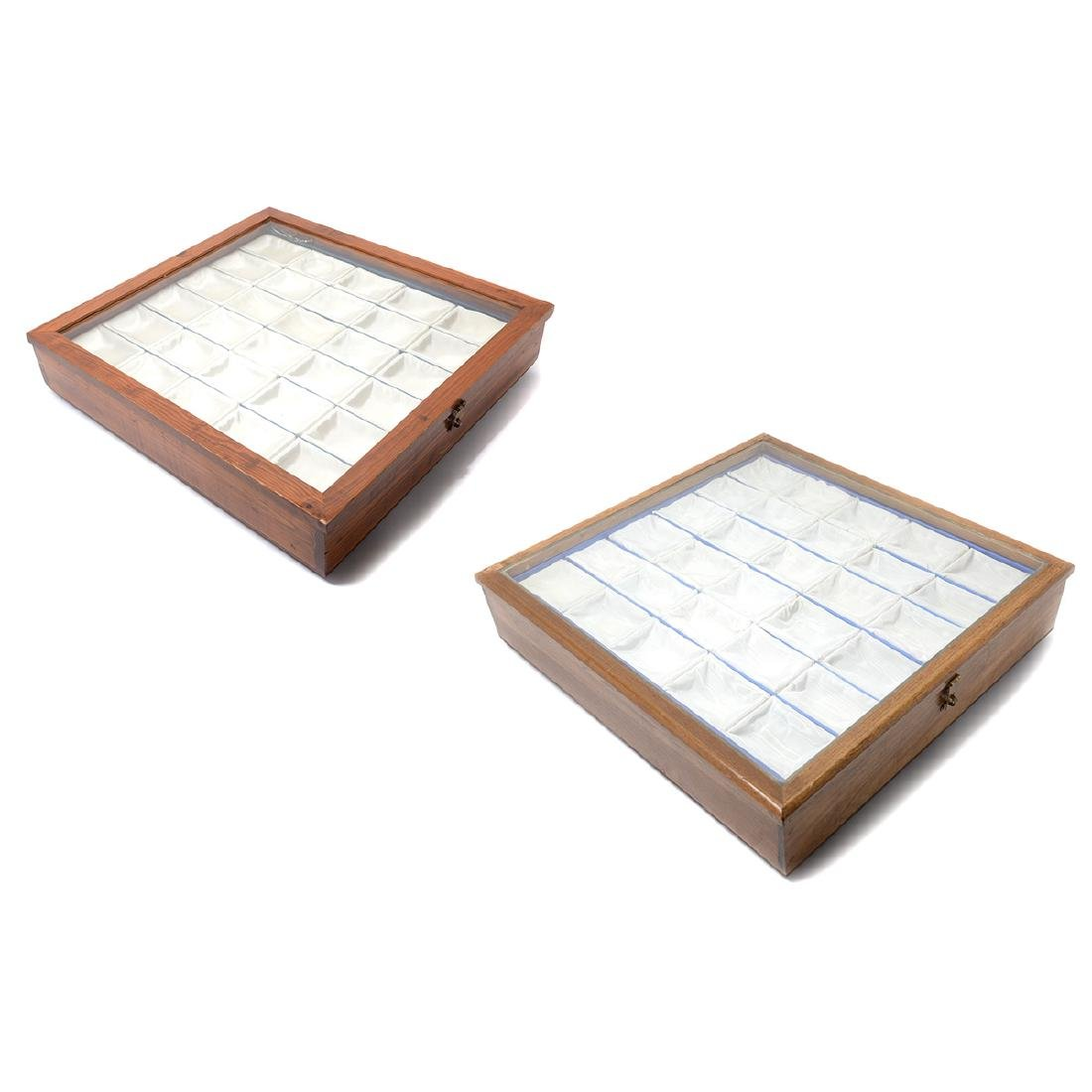 Two Snuff Bottle Display Cases & Literature on Snuff