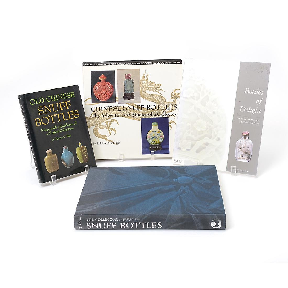 Two Snuff Bottle Display Cases & Literature on Snuff - 2