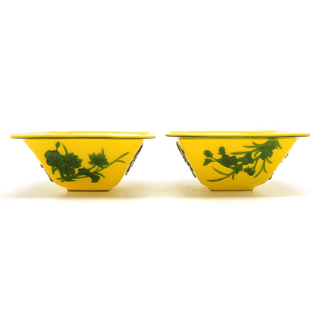 Two Pairs of Overlay Glass Bowls - 10