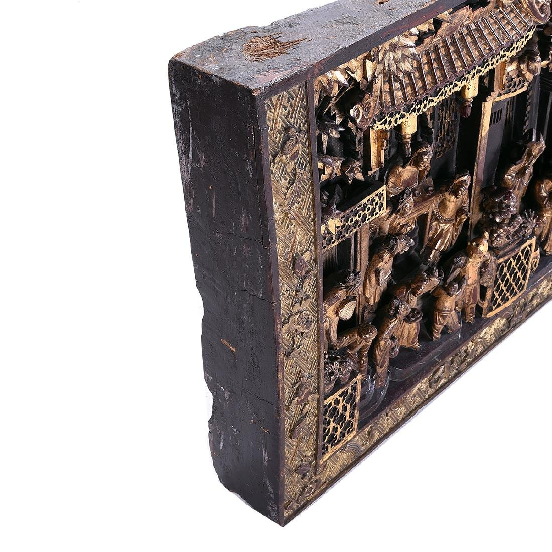 Massive Gilt Wood Horizontal Architectural Panel, 19th - 7