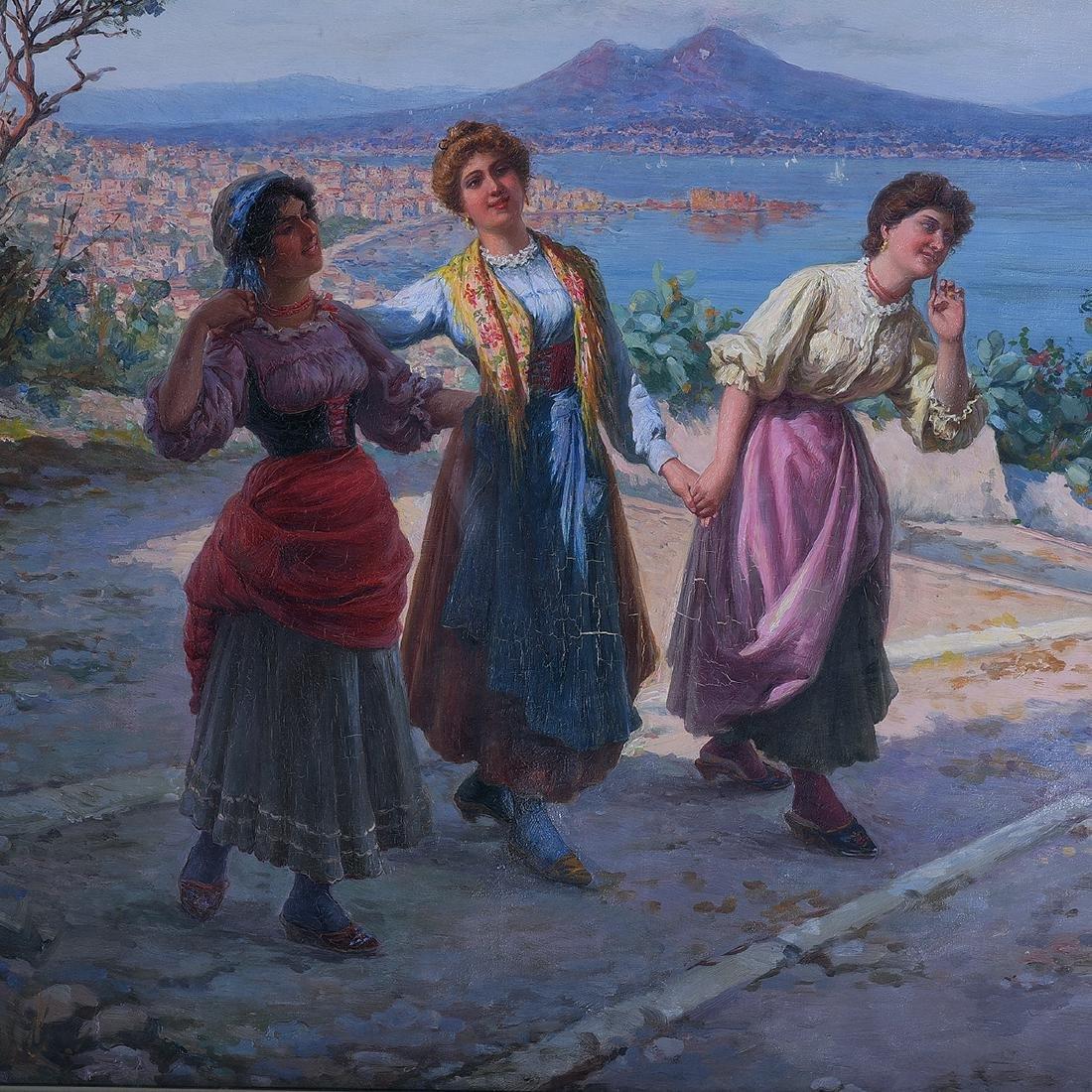 """Carlo Ferranti """"The Serenade (Naples Scene)"""" oil on - 2"""
