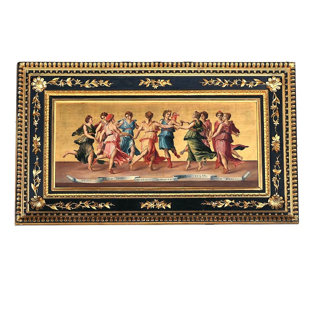 """European School """"The Joy of the Gods"""" oil on panel - 4"""
