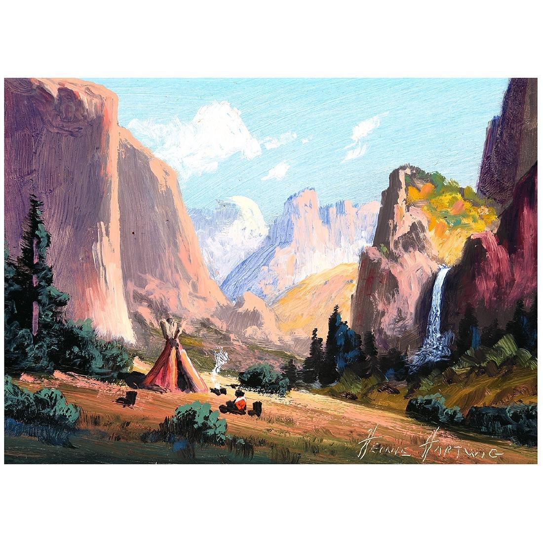 "Heinie Hartwig ""Yosemite"" oil on board"