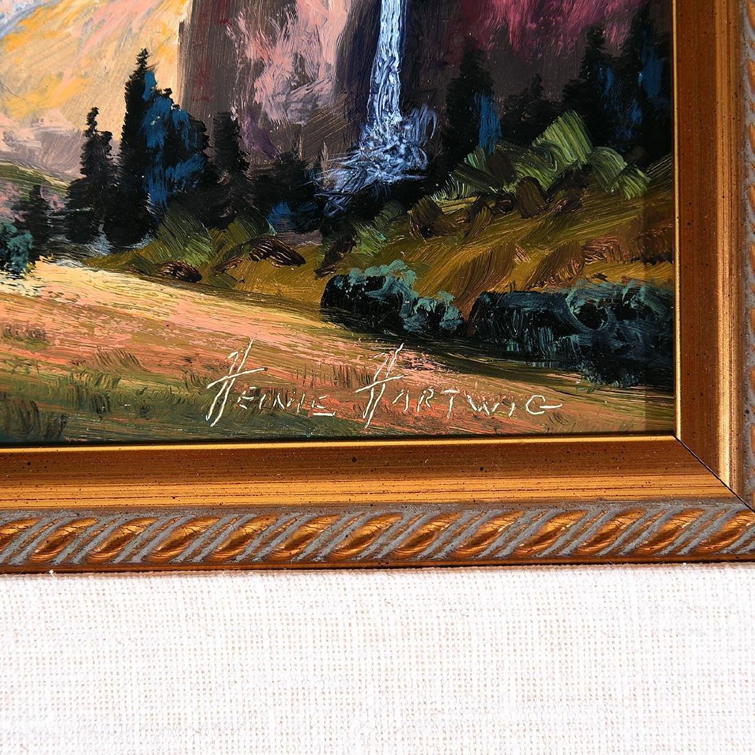 "Heinie Hartwig ""Yosemite"" oil on board - 2"