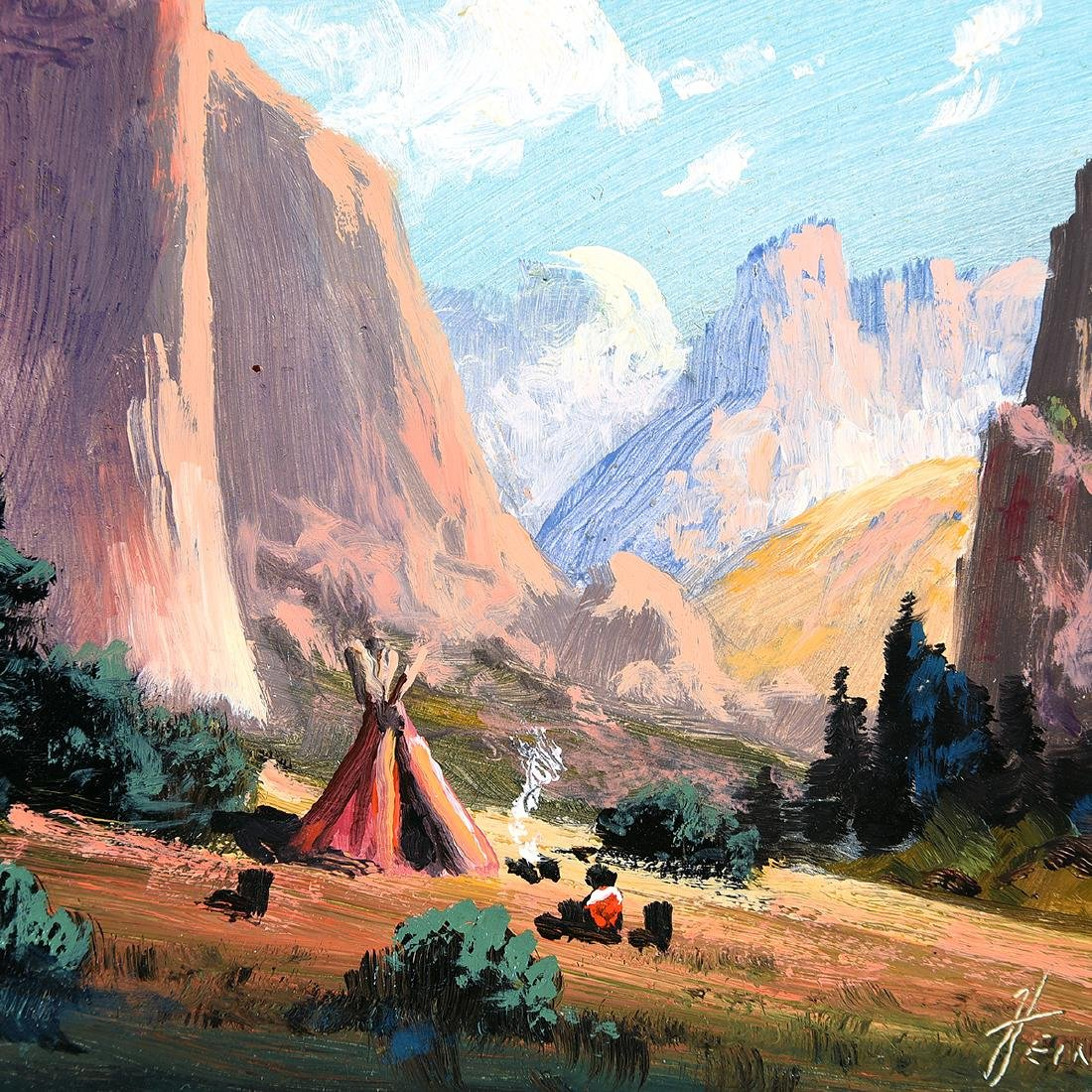 "Heinie Hartwig ""Yosemite"" oil on board - 3"