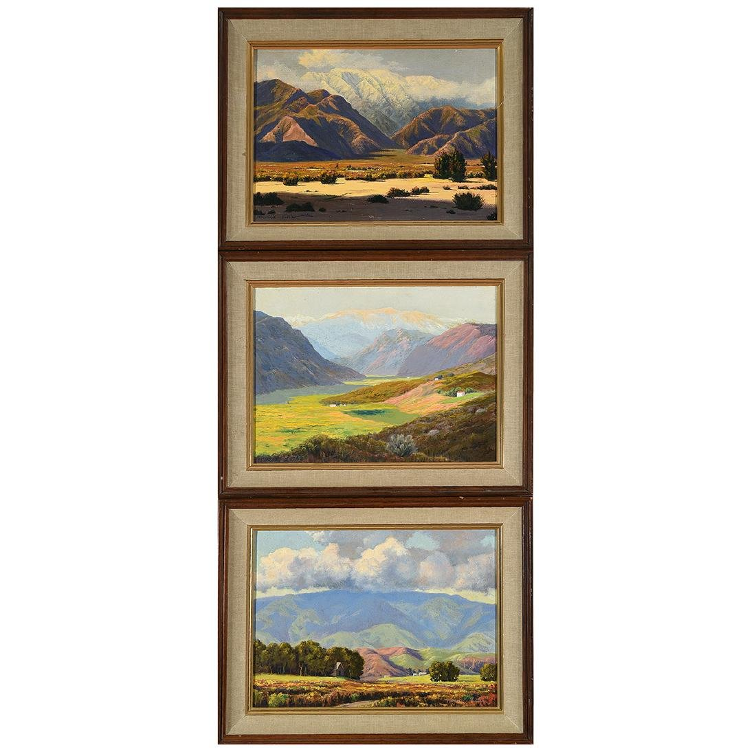 """Howard Little 3 """"Landscape"""" oil on board"""