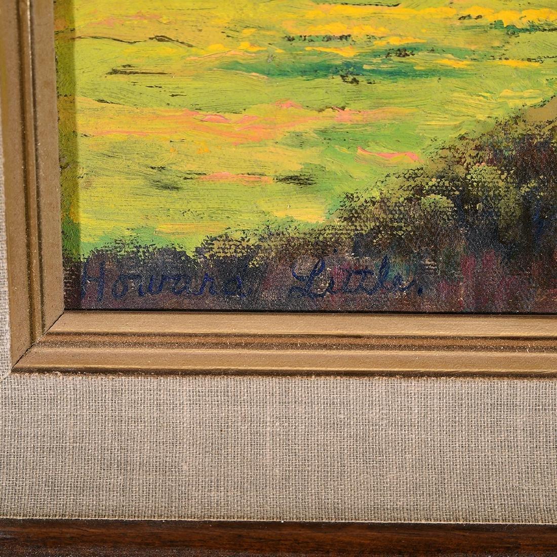 """Howard Little 3 """"Landscape"""" oil on board - 2"""