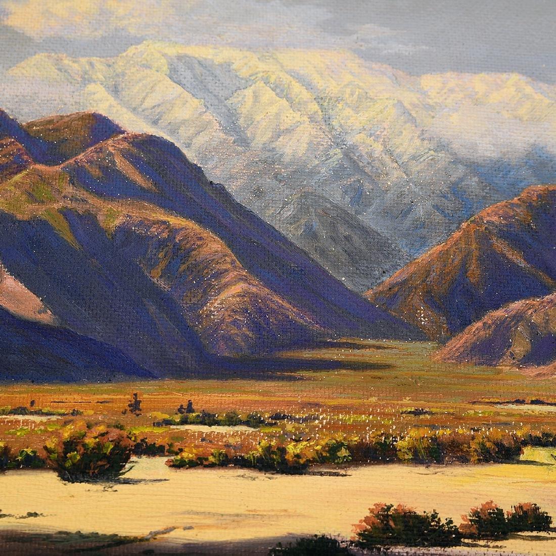 """Howard Little 3 """"Landscape"""" oil on board - 3"""