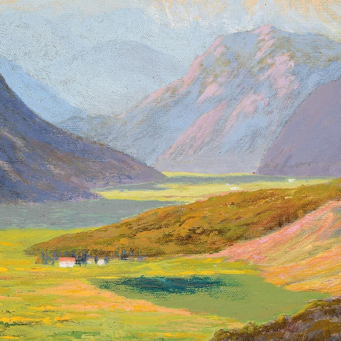 """Howard Little 3 """"Landscape"""" oil on board - 4"""