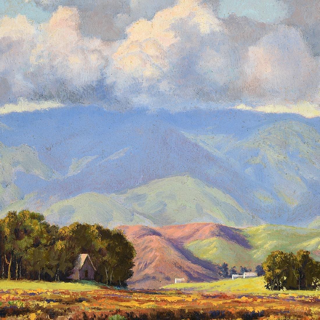 """Howard Little 3 """"Landscape"""" oil on board - 5"""