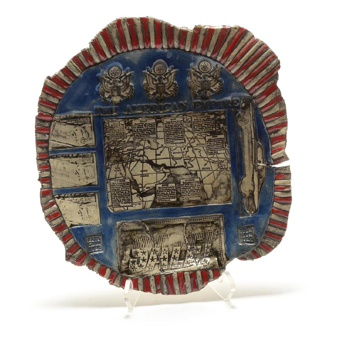 "Erik Gronborg ""The American Empire"" glazed earthenware"