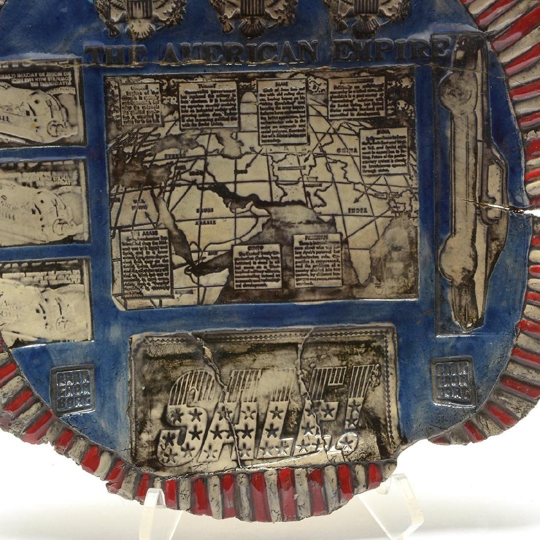 "Erik Gronborg ""The American Empire"" glazed earthenware - 3"