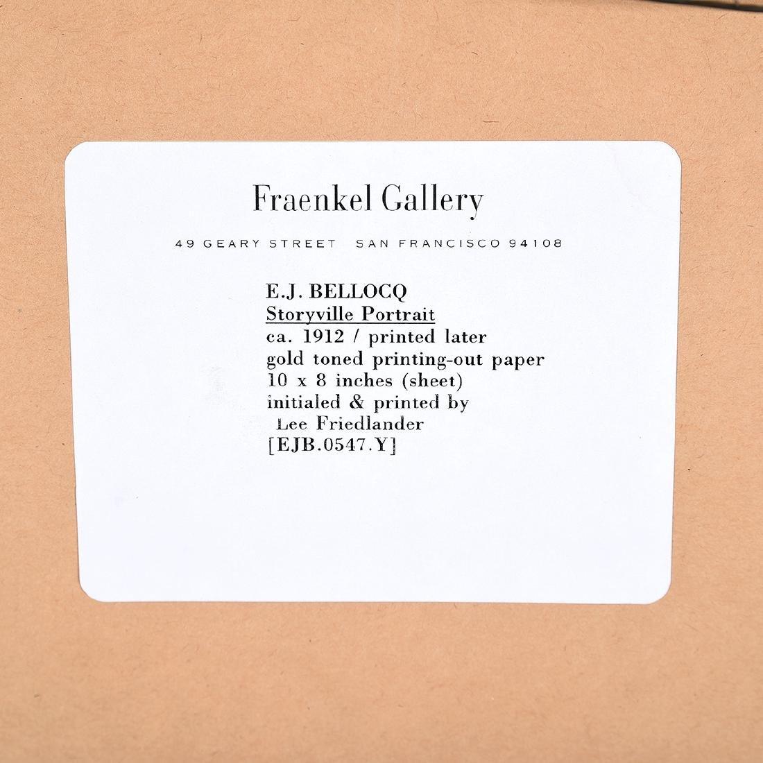"""E.J. Bellocq """"Storyville portrait ca. 1912"""" gold toned - 5"""