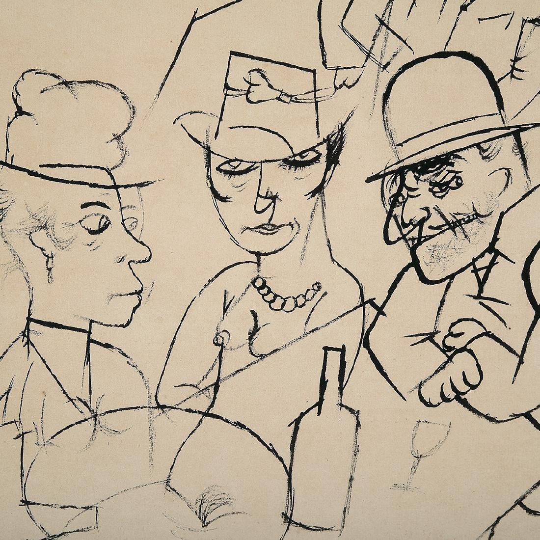 "George Grosz ""Bar Scene"" lithograph - 2"