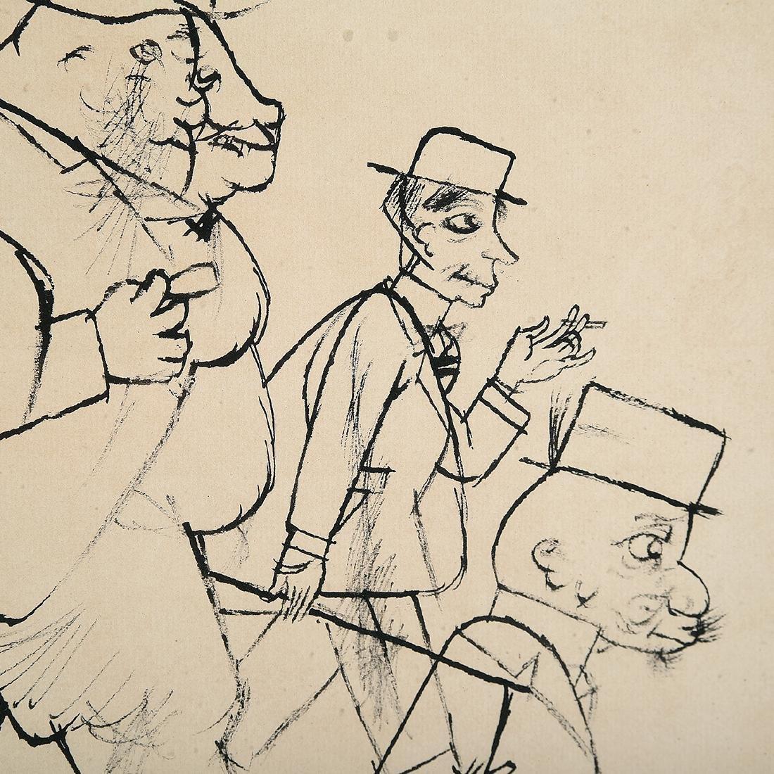 "George Grosz ""Bar Scene"" lithograph - 3"